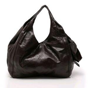 Valentino Garavani Nuage Brown Leather Bow Bag